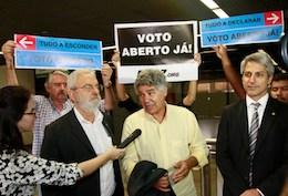 Nossa ação no aeroporto de Brasília e a vitória na Câmara dos Deputados!