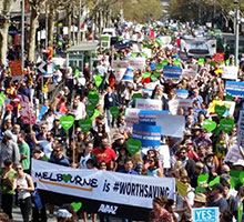 La marcha global fue decisiva