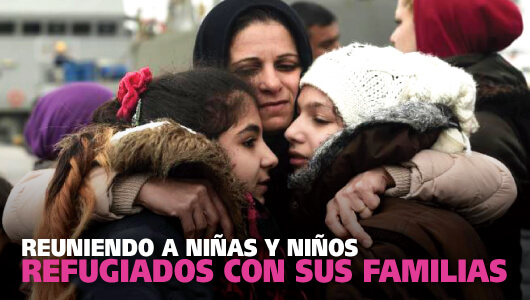 Reuniendo a niños y niñas refugiados con sus familias