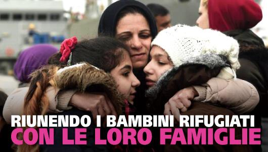 Riunendo i bambini rifugiati con le loro famiglie