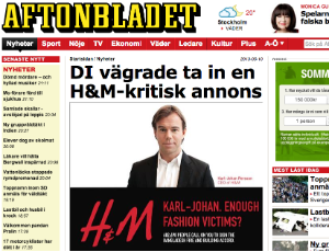 A Swedish paper splashes our banned H&M ad
