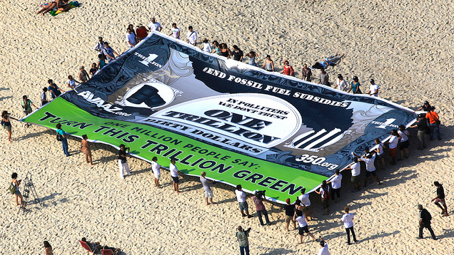Rio Fossil Subsidies Banner